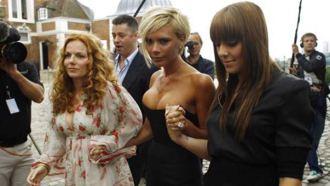 Algunas de las componentes de la banda Spice Girls.