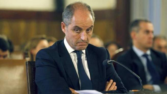 El expresidente de la Generalitat valenciana, Francisco Camps, durante el juicio de la llamada 'causa de los trajes' del 'caso Gürtel'.