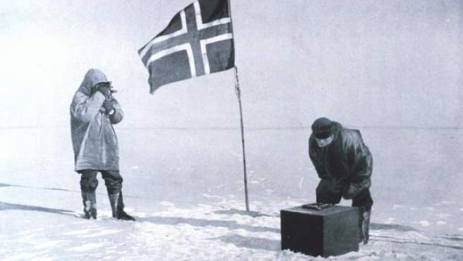Expedición noruega en el Polo Sur.