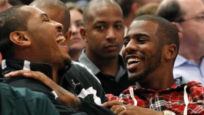 Carmelo Anthony y Chris Paul.