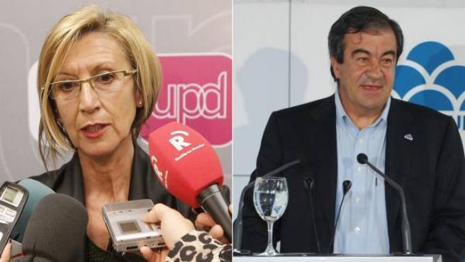 Rosa Díez y Francisco Álvarez Cascos.