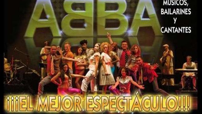 """Cartel anunciador del musical """"The world of ABBA"""" que tendrá lugar en Lepe"""
