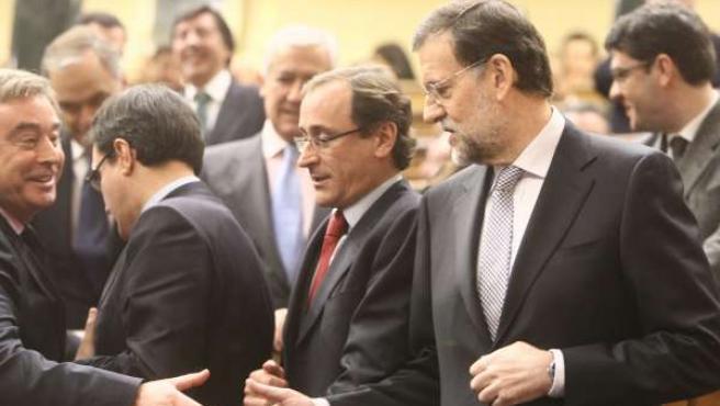 Mariano Rajoy, A Su Llegada Al Debate De Investidura
