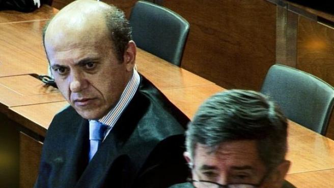 El presidente de Sevilla, José María Del Nido, durante el juicio.