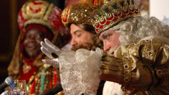 Imagen de archivo de una cabalgata de los Reyes Magos.