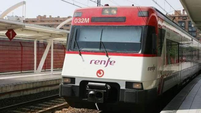 Tren de la red de Cercanías de Madrid.