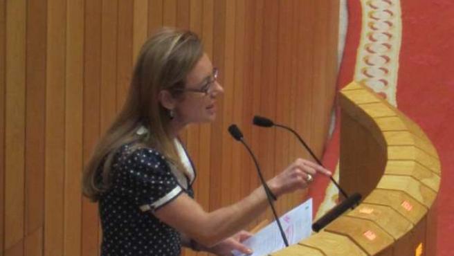 La Conselleira Marta Fernández Currás.