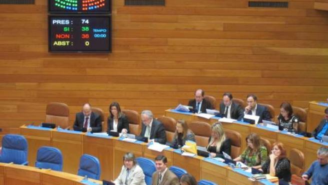 Aprobación de los presupuestos en el Parlamento gallego.