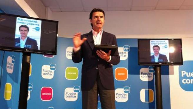 El Presidente Del PP Canario, José M.Soria