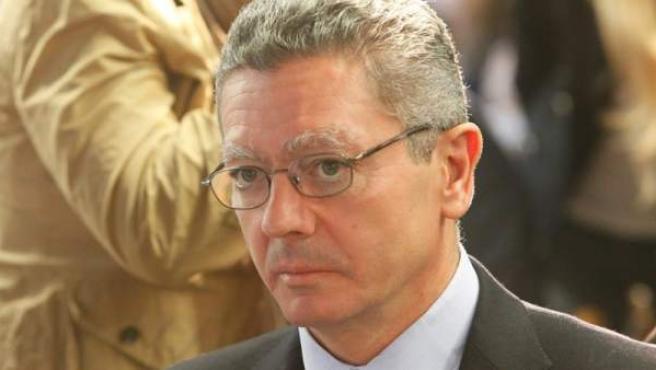 Alberto Ruiz-Gallardón, durante un acto público el pasado mes de septiembre.