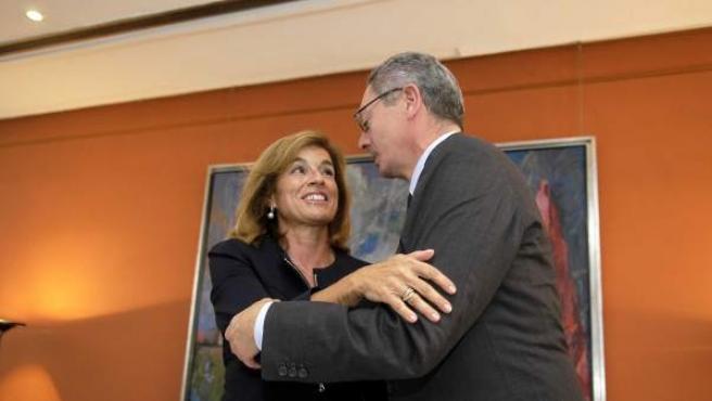 Botella y Gallardón durante un acto oficial en octubre.