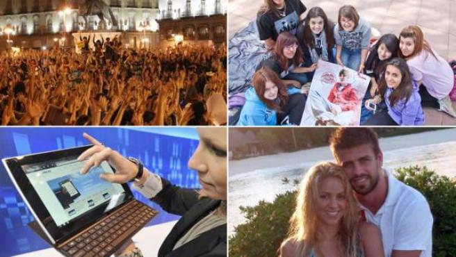 Las manifestaciones de los indignados, la pasión por Justin Bieber, las tabletas y el amor de Shakira y Piqué dieron lugar a nuevas palabras.