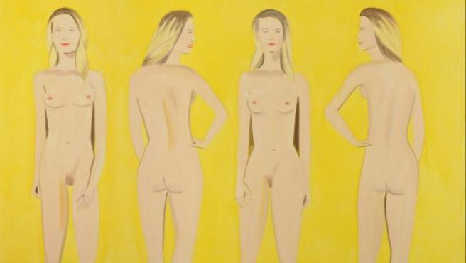 Uno de los cuadros de Alex Katz que se exponen en Hannover