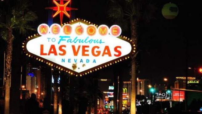 La famosa entrada a la ciudad de Las Vegas, en Nevada, EE UU.