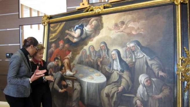 Lola Johnson Y Carmen Pérez, Restauración De 'El Milagro De Los Panes'