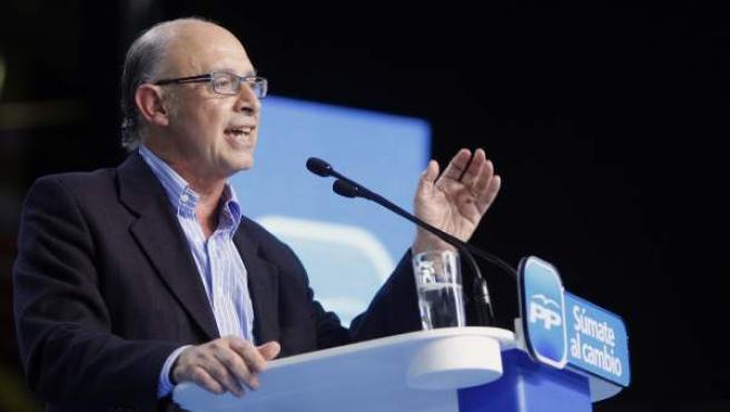 Cristóbal Montoro, ministro de Hacienda y Administraciones Públicas.