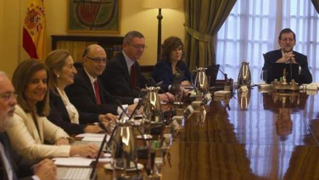 Imagen del Consejo de Ministros presidido por Mariano Rajoy.