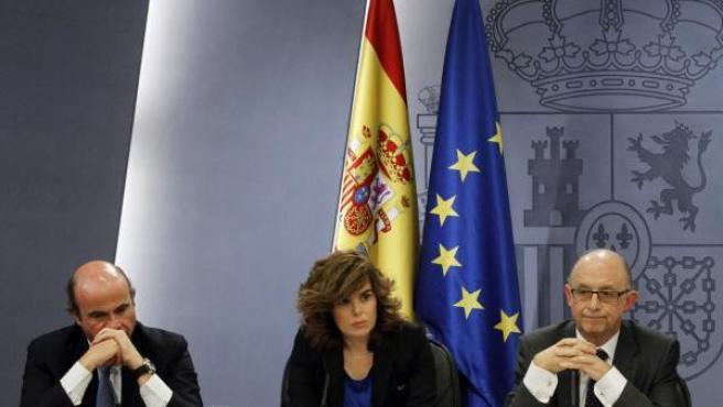 De Guindos, Sáenz de Santamaría, Montoro y Báñez.