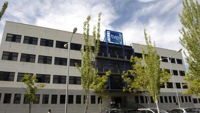Uno de los edificios de TVE en Prado del Rey.