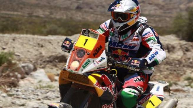 Marc Coma, en la cuarta etapa del Dakar.