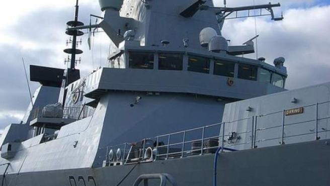 Imagen del buque de guerra británico HMS Daring.