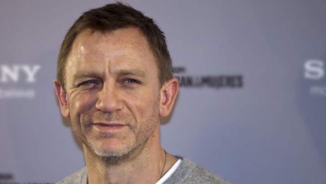 El actor británico Daniel Craig, durante la presentación de la película el pasado miércoles en Madrid.