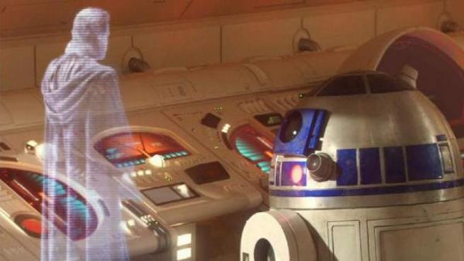 Holograma de Obi-Wan en una de las películas de 'Star Wars'.