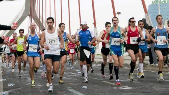 Imagen de archivo de un maratón.