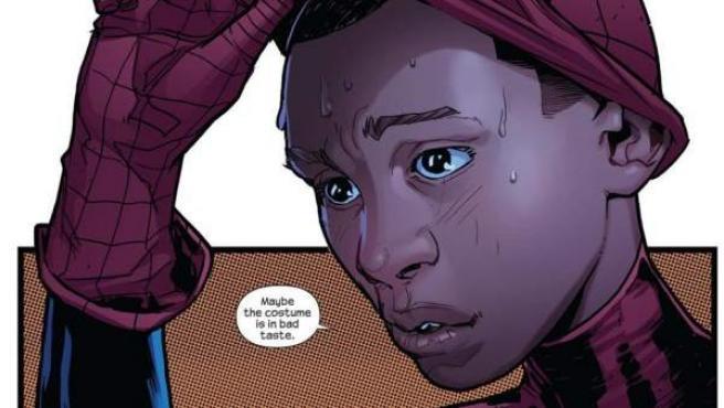 El nuevo protagonista de Spiderman, Miles Morales.