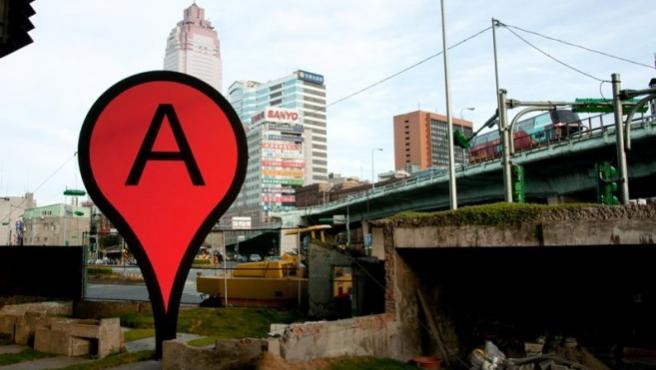 Una instalación de Bartholl inspirada en Google Maps
