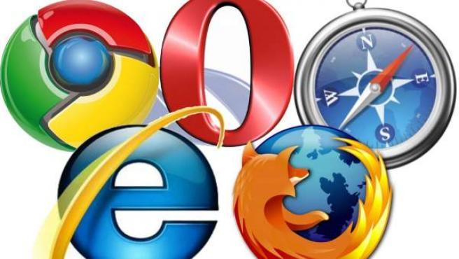 Logotipos de varios navegadores de Internet.