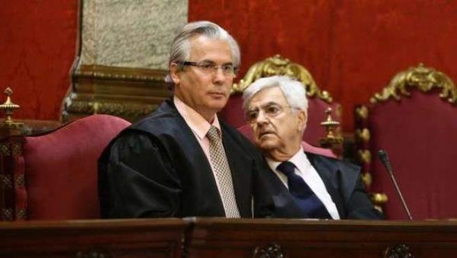 El juez Baltasar Garzón, la pasada semana durante el juicio por las escuchas en la cárcel a la cúpula de la 'trama Gürtel'.