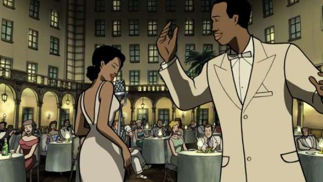 Una imagen del filme de animación 'Chico y Rita', creado por Trueba y Mariscal.