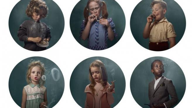 Algunos de los 'niños fumadores'