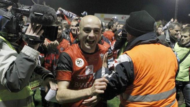 Pablo Infante, en la gesta del Mirandés en Copa 2011-12