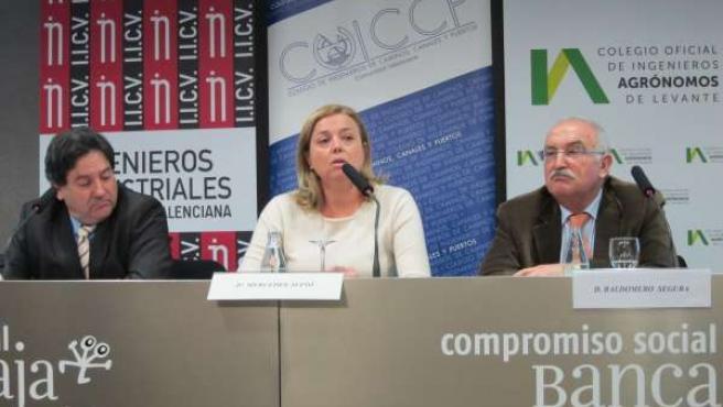 Los Decanos Autonómicos De Industriales, Caminos Y Agrónomos En Rueda De Prensa.