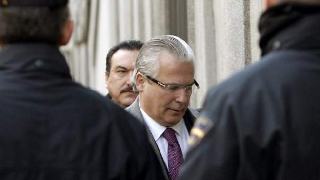 Baltasar Garzón, a su llegada al Tribunal Supremo.