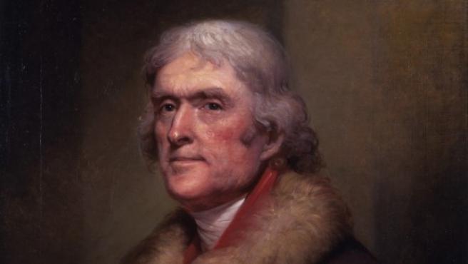 Jefferson, tercer presidente y redactor de la Declaración de Independecia de EE UU