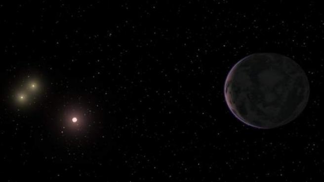Ilustración del planeta GJ 667Cc, que calculan tiene 4,5 veces la masa de la Tierra.