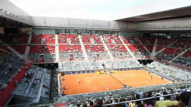 Interior de la Caja Mágica durante la celebración del Masters de Madrid.
