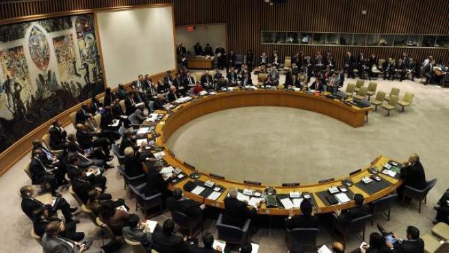 El Consejo de Seguridad de la ONU, durante una reunión sobre la situación en Siria, en una imagen de archivo.