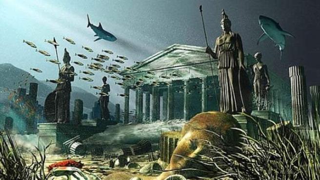 Representación artística de la Atlántida.
