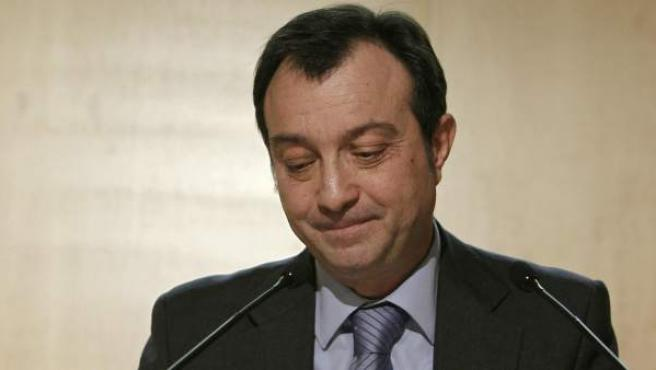 Manuel Cobo, vicealcalde de Madrid, anunciando que deja el Ayuntamiento y se marcha a Ifema.