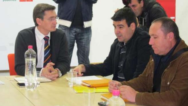 José Luis Sánchez Teruel (PSOE) Con Agricultores