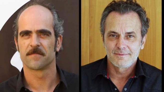 Candidatos al Goya en la categoría de mejor actor protagonista: Antonio Banderas, Daniel Brühl, Luis Tosar y José Coronado (de izda. a dcha. y de arriba abajo).