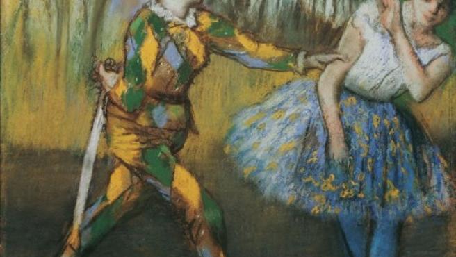 'Arlequín y Colombina', de Edgar Degas, creada alrededor del año 1886 en pastel