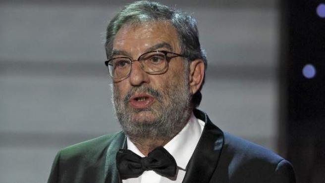 Enrique González Macho, presidente de la Academia de Cine, durante la gala de entrega de los Goya.