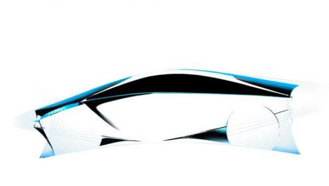 El boceto adelanta las líneas aerodinámicas del nuevo urbano de emisiones reducicas.
