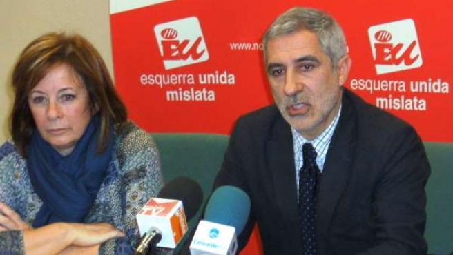 Marga Sanz (EU) Y Llamazares (IU)
