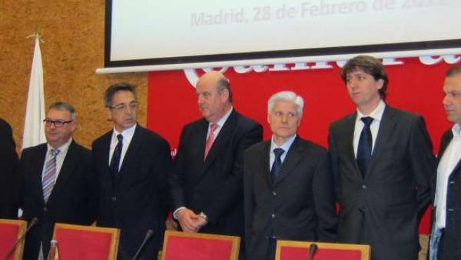El Director Gnral De Transportes, El Acalde De Soria Y Miembros De Fitrans